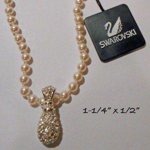 SWAROVSKI Pearl Necklace & Crystal Pendant Enhance
